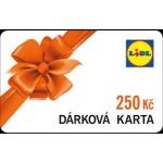 LIDL Darková karta na nákup v hodnotě 250,-Kč